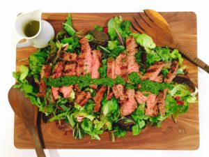 Skirt Steak Salad- Live Young Lifestyle